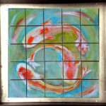 Koi Fish – TacTile Puzzle (hand-painted, wooden, magnetic blocks connected to a steel frame). Frames sold separately