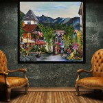Summer in Vail Village  30 x 30 inches  SOLD