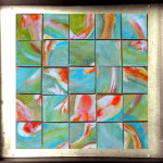 Koi Fish – TacTile Puzzle (hand-painted, wooden, magnetic blocks connected to a steel frame). Frames sold separately.